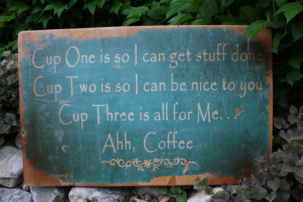 Ahh Coffee Wood Sign