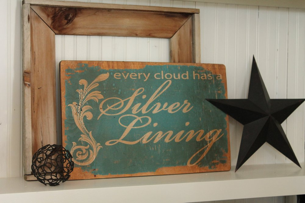 Teal Silver Lining Sign