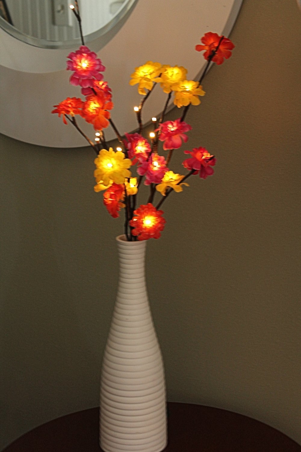 Zinnia Lighted Branch