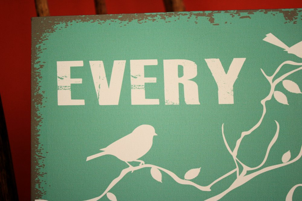 Celebrate Everyday Canvas Sign