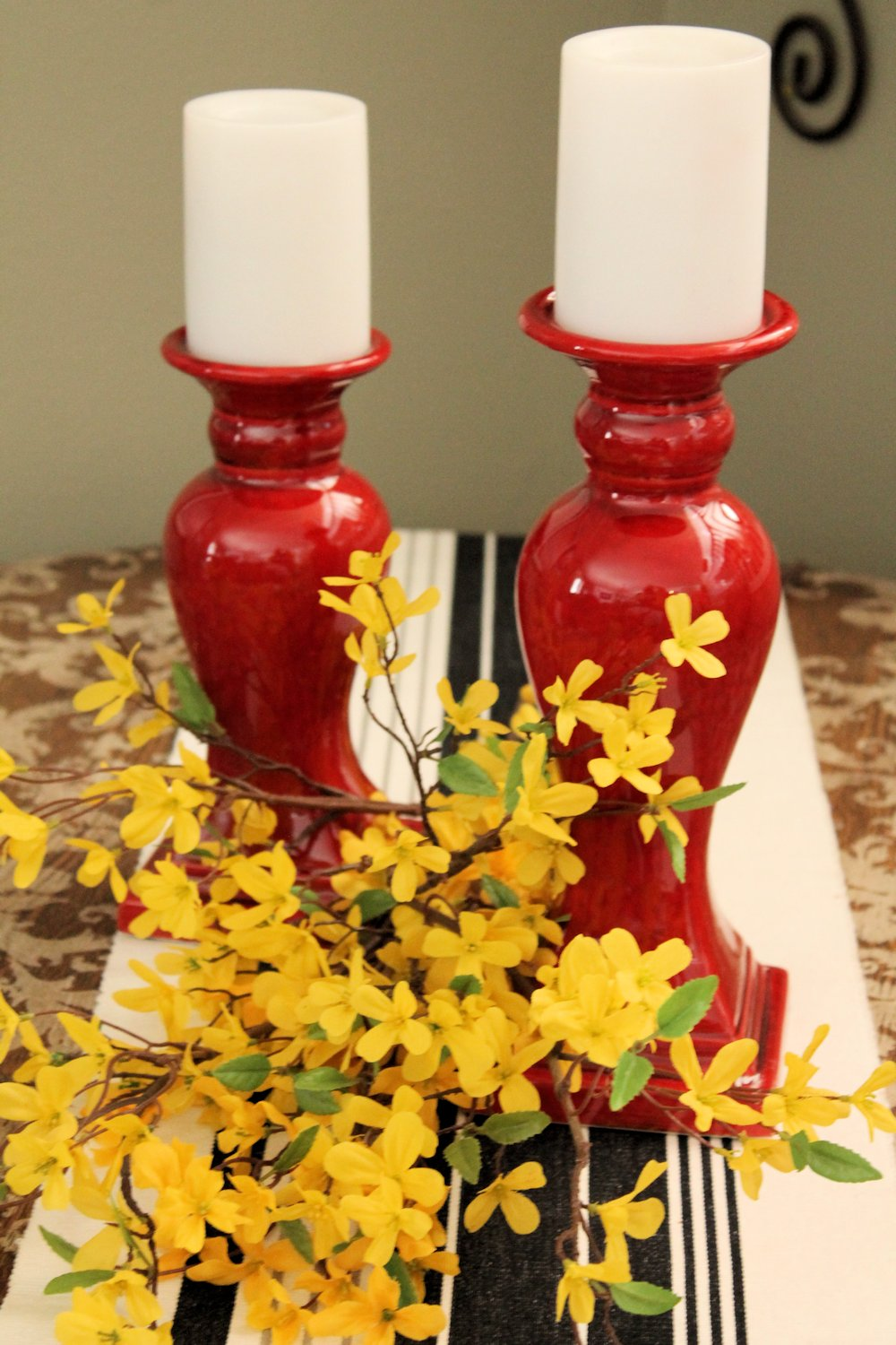 Ruby Red Candleholders